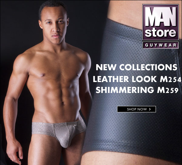 MANstore Leather Look and Shimmering collections